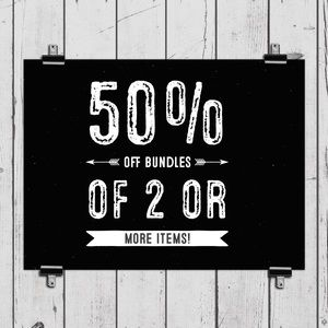 Accessories - 50% Off Bundles of 2 Items or More!